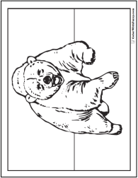 Charging bear coloring page