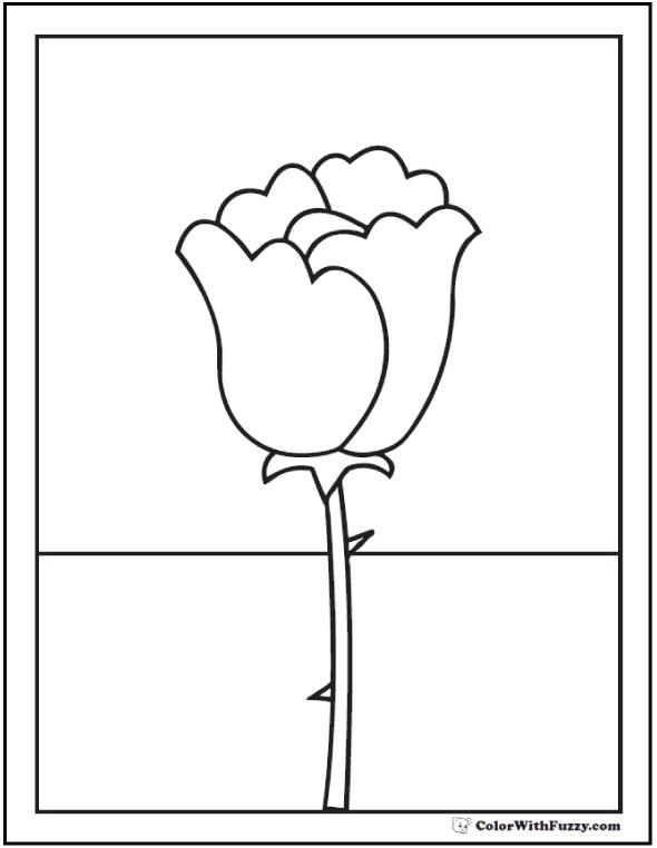 Single Tall Rose