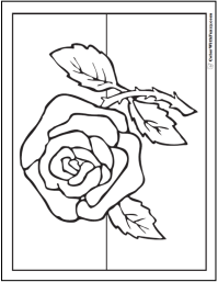 73  rose coloring pages customize pdf printables
