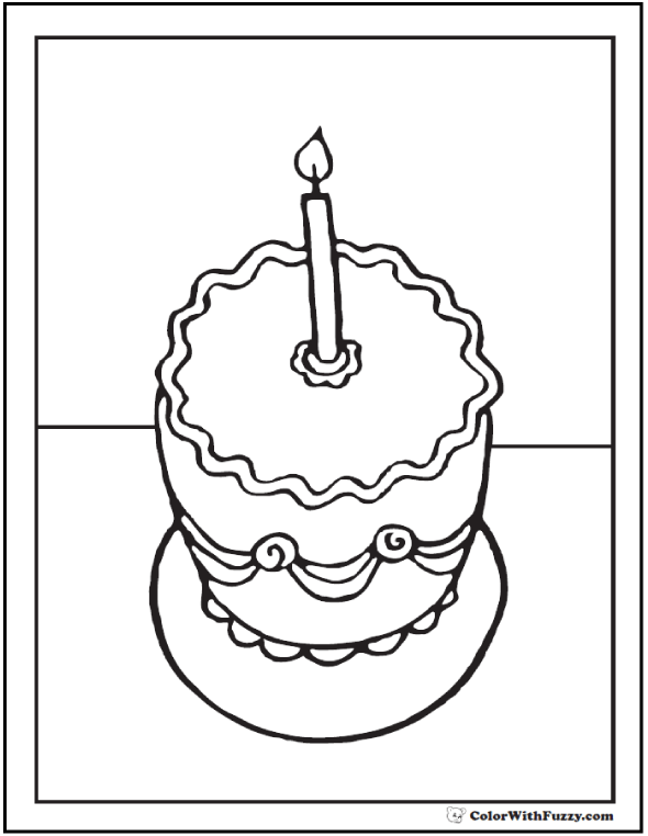 1st Birthday Coloring Pages