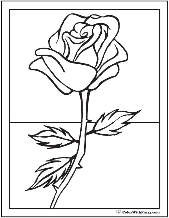 Summer Rose Coloring Sheets For Kids