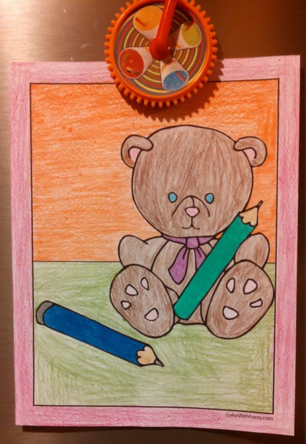 Cute Teddy Bear To Color!