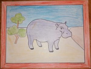 Fun hippo coloring pages for kids!