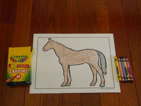 Beautiful horse coloring pages to print.