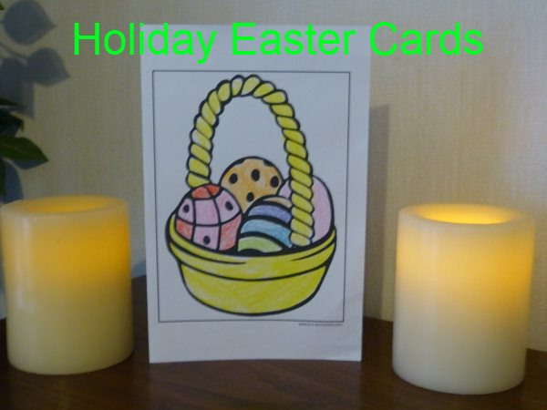 Printable Easter Basket Card