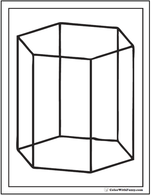 Hexagonal 3D Coloring Pages