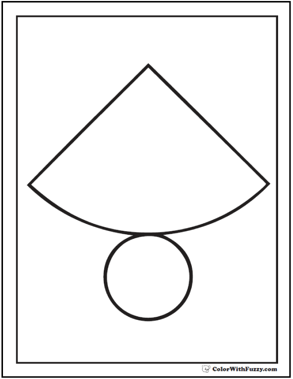 Cut And Color Cone Shape