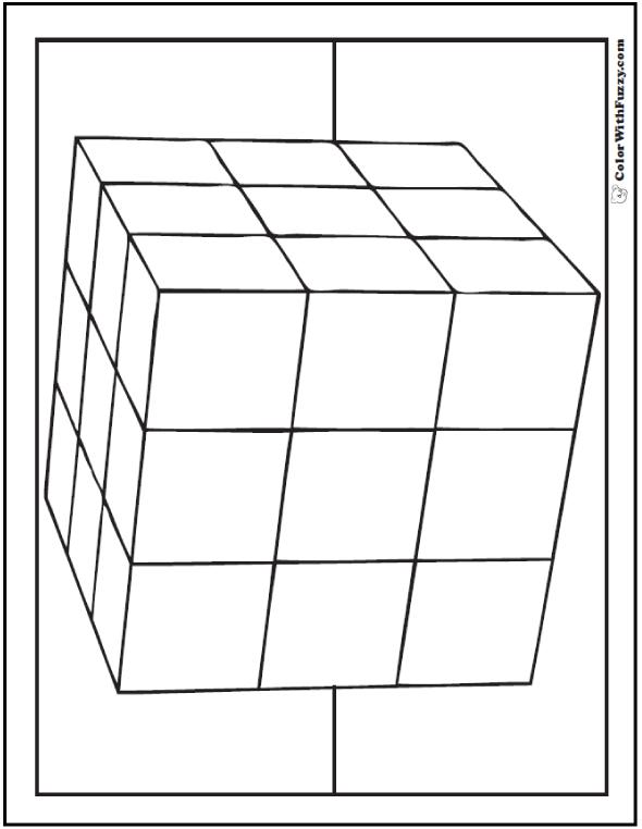 3x3 3D Cube Coloring