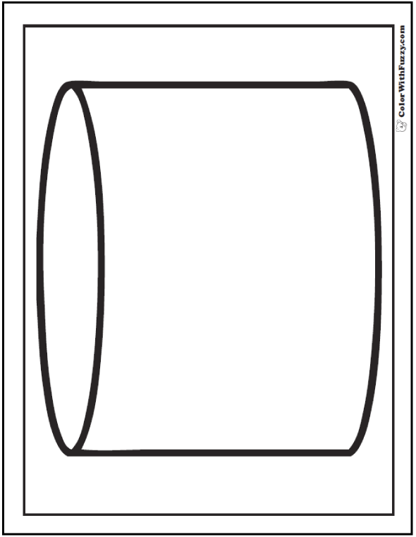 3D Cylinder Coloring Sheet