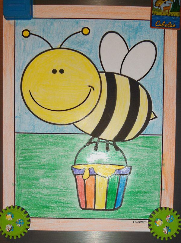 Honey Bee Coloring Sheets For Kids