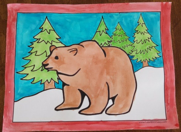 Over One Hundred Coloring Pages of Bears