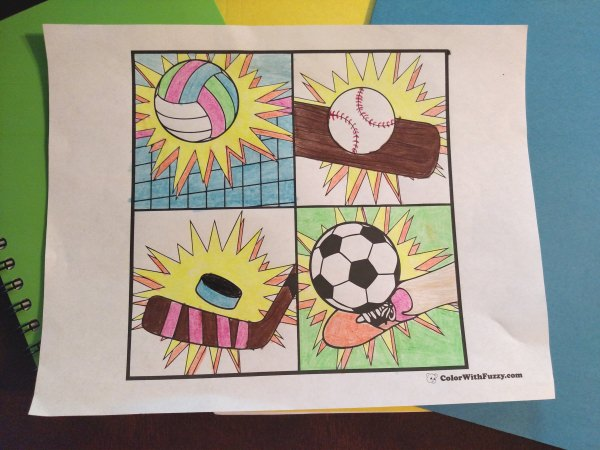 Sports Coloring Sheets