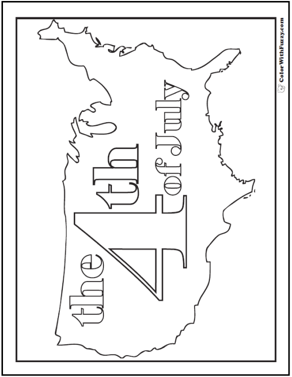 July 4 Coloring Pictures : Fourth of july coloring pages: print and customize