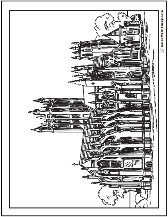 Adult Coloring Pages: Europe