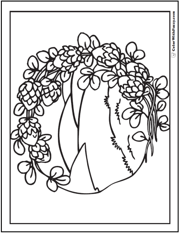 Flowers and landscape Adult Coloring Pages