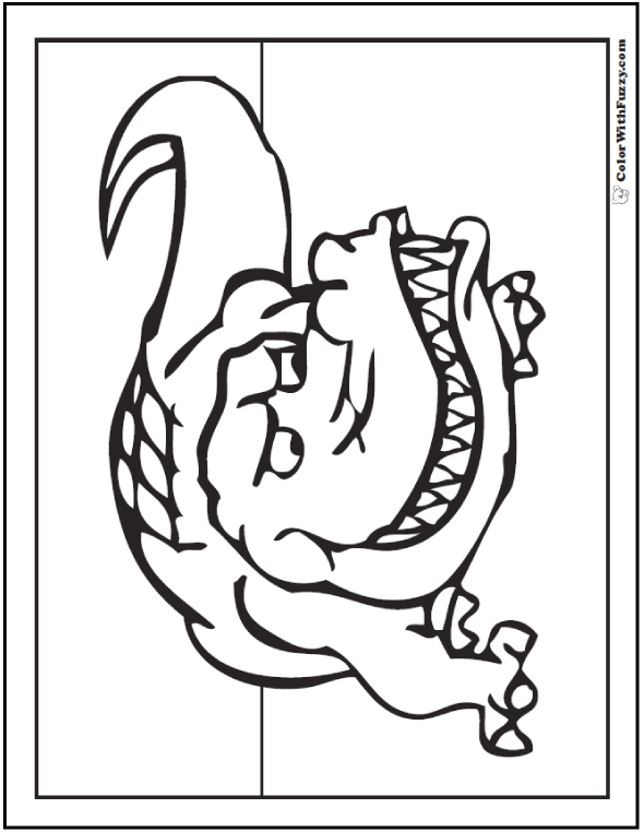 ColorWithFuzzy.com has fun Crocodile coloring pages