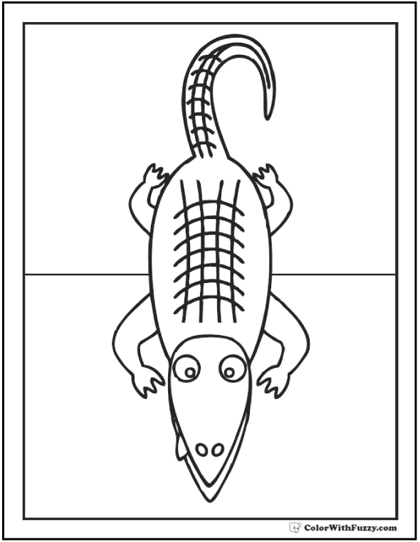 Crocodile or alligator coloring page