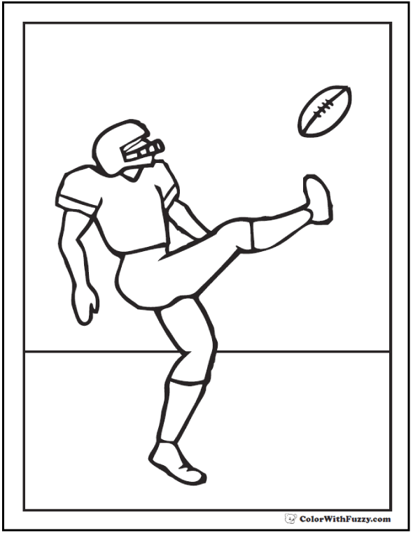 American Football Coloring Sheet