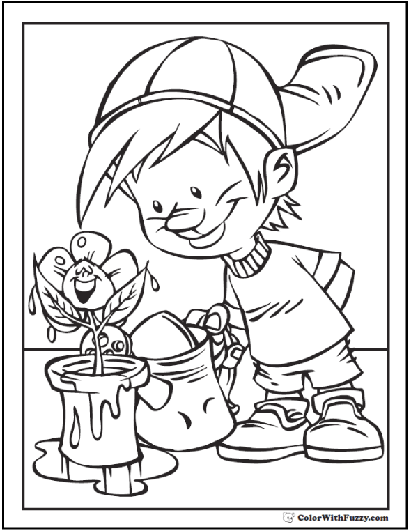 April showers bring may flowers coloring pages bltidm for May coloring pages printable