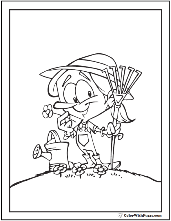 Spring flowers coloring page 28 customizable printables for April showers bring may flowers coloring page
