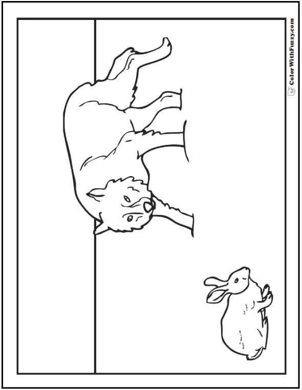 Wolf Coloring Pages Print And Customize
