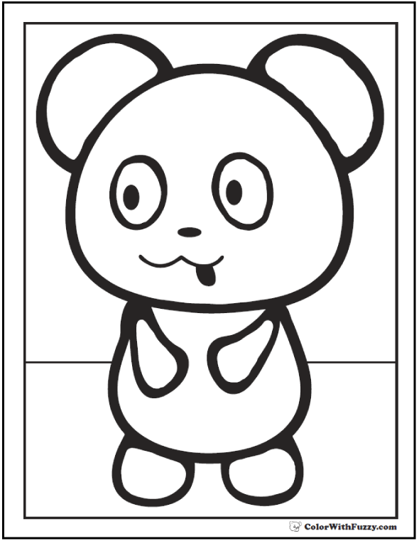 Preschool Baby Panda Coloring Sheet