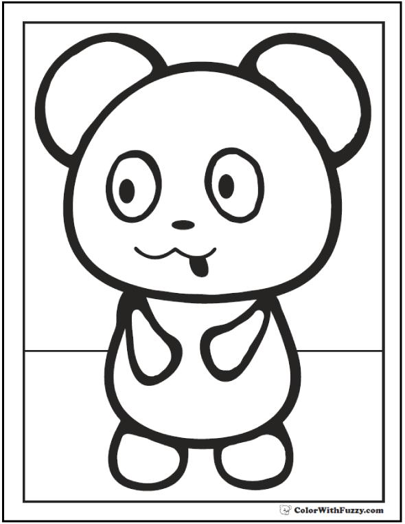 Preschool Baby Panda Coloring Sheet