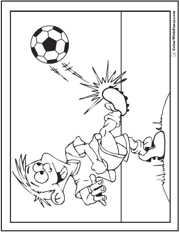 Fun Backyard Soccer Picture To Color