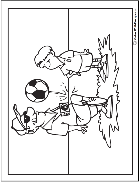 Backyard Soccer Coloring Page