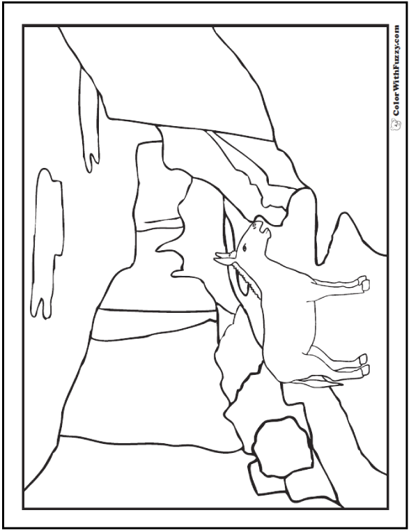 Balaam's donkey coloring page.