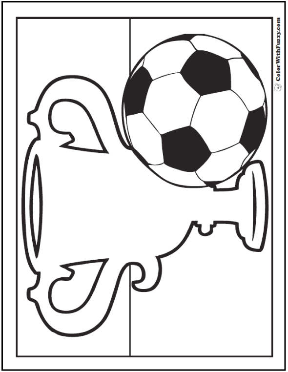 Soccer Trophy Coloring Sheet