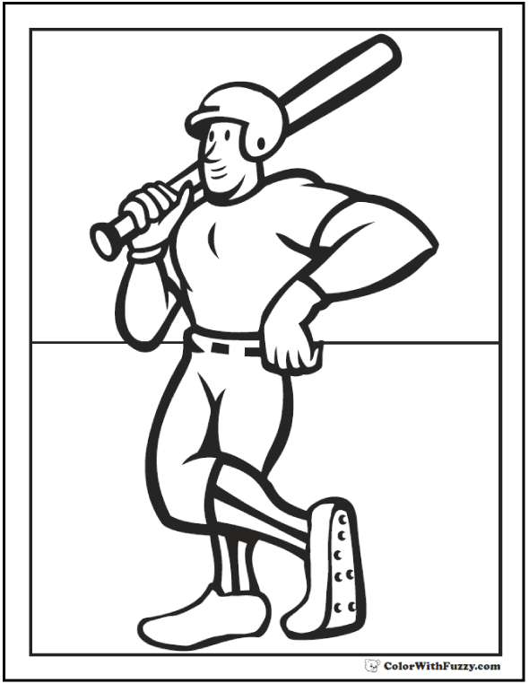 Batting Champ Coloring Page