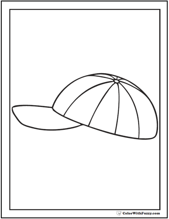 Baseball Cap Coloring Page - Get Coloring Pages | 762x590
