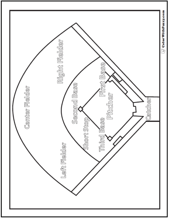 Baseball Diamond Coloring PDF