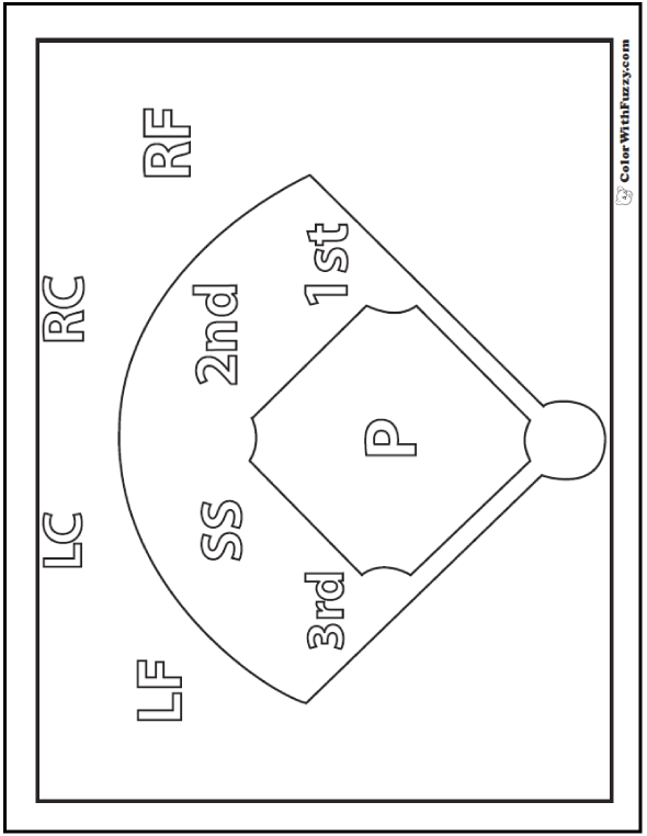 coloring book pages baseball field - photo#20