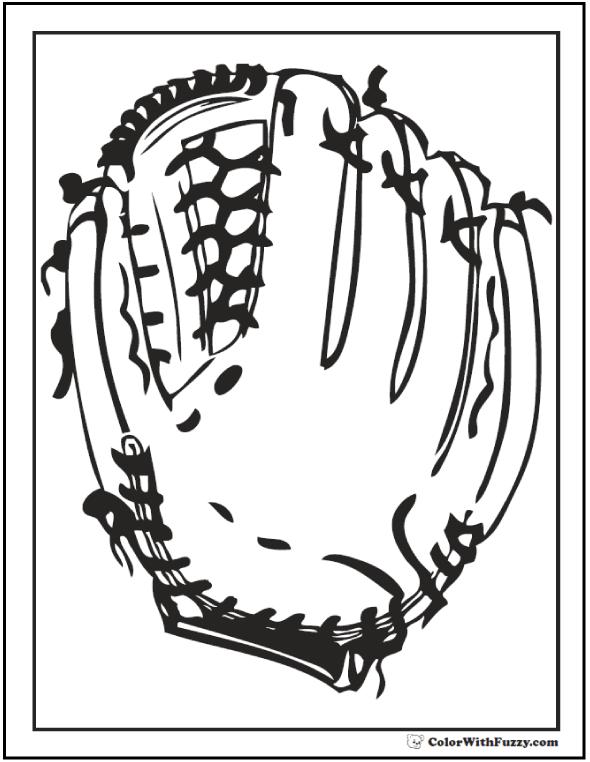 Baseball Glove Coloring Printable