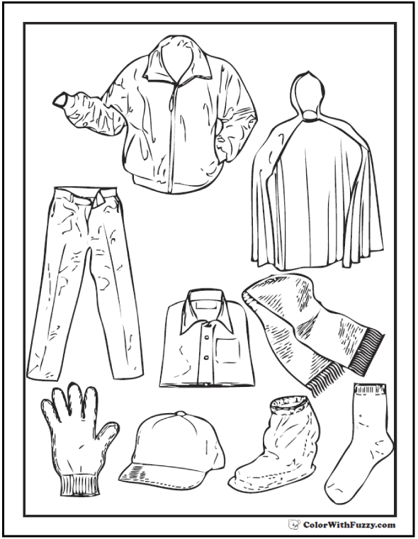 Baseball Jacket, Raincoat, And Gear
