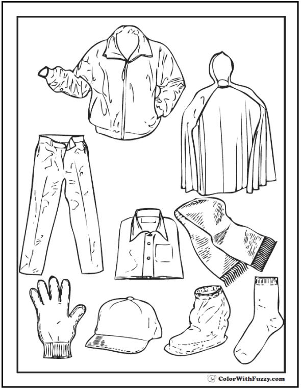 Baseball Jacket, Raincoat, And Gear