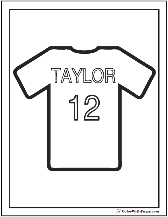 Baseball Jersey Coloring