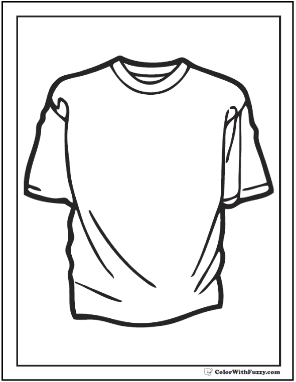 Baseball Shirt For Coloring
