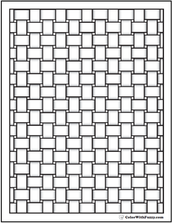 Basket Weave Pattern Coloring