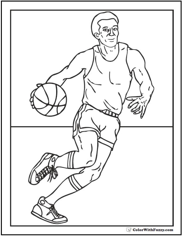 Basketball Center Coloring Page