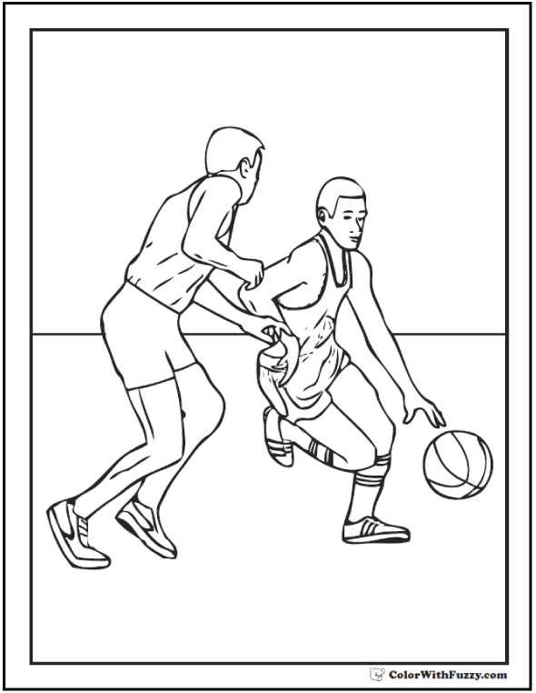 Basketball Guard Coloring Page