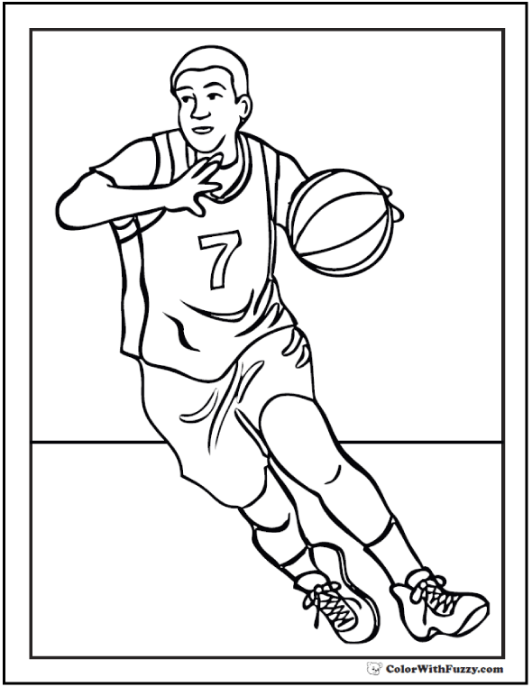 Forward Basketball Coloring