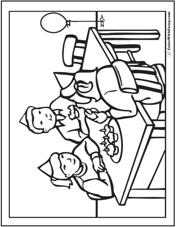 Birthday Cupcake Coloring Pages - Party Time!