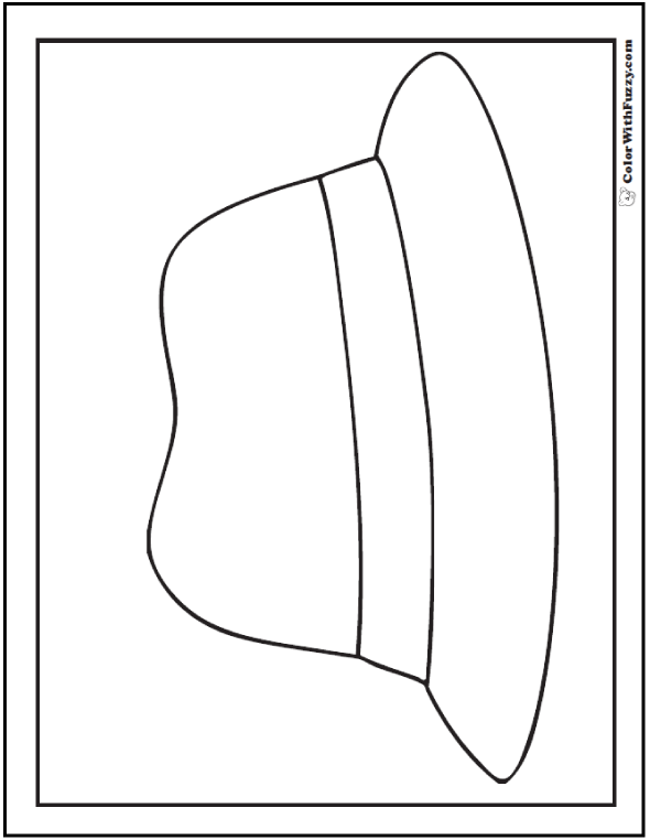 Fedora Or Birthday Derby Hat Coloring Sheet