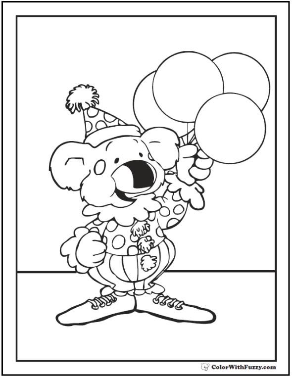 Birthday Koala. Happy Birthday!