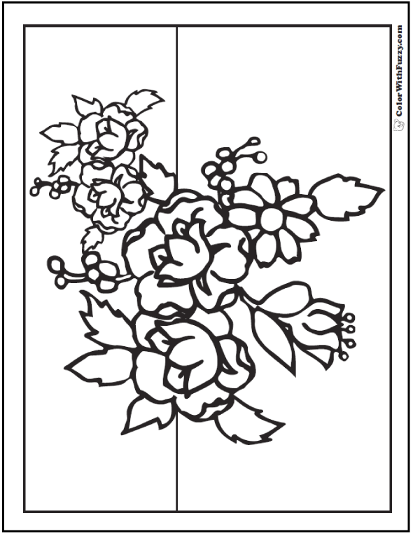 Primrose Bouquet Flowers Coloring Pages