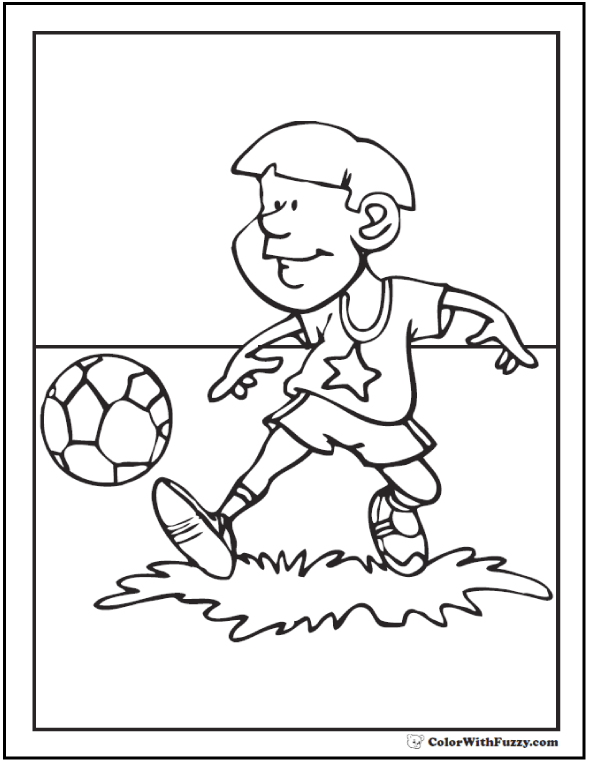 Coloring Picture Of Soccer Forward Passing Ball