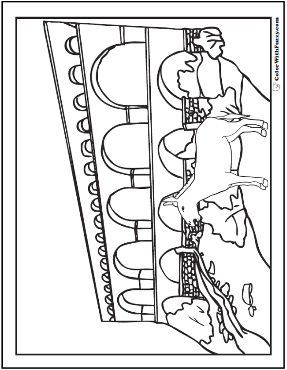 Braying donkey coloring pages.